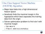 one class support vector machine ocsvm algorithm