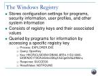 the windows registry