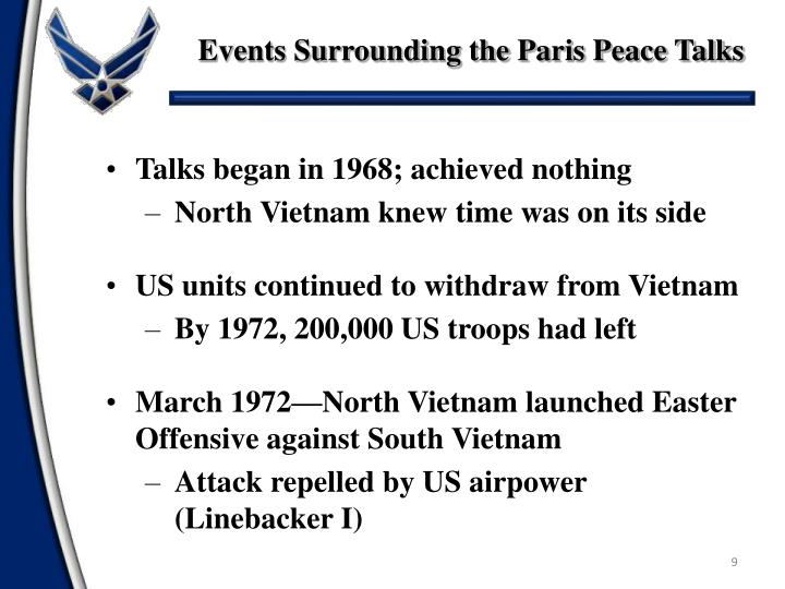 Events Surrounding the Paris Peace Talks