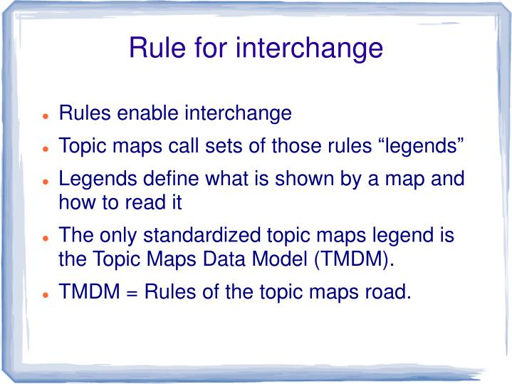 Rule for interchange