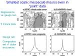 smallest scale mesoscale hours even in point data