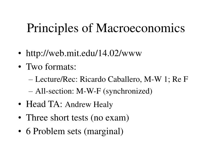 problem set principles of macroeconomics