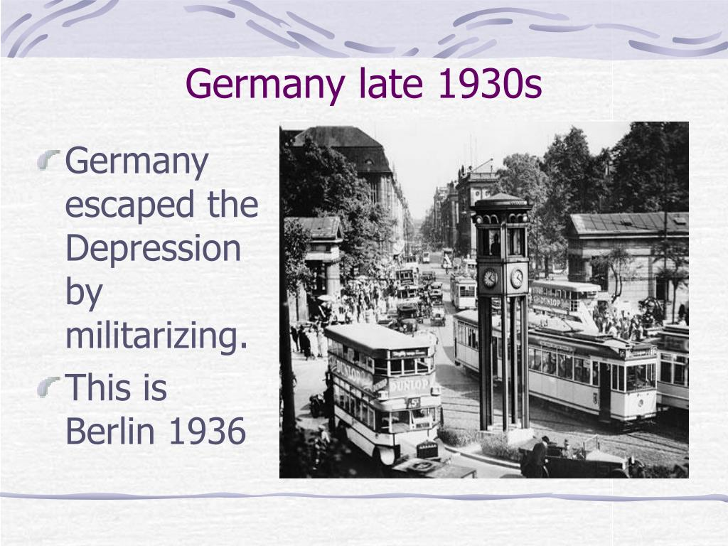 Germany late 1930s