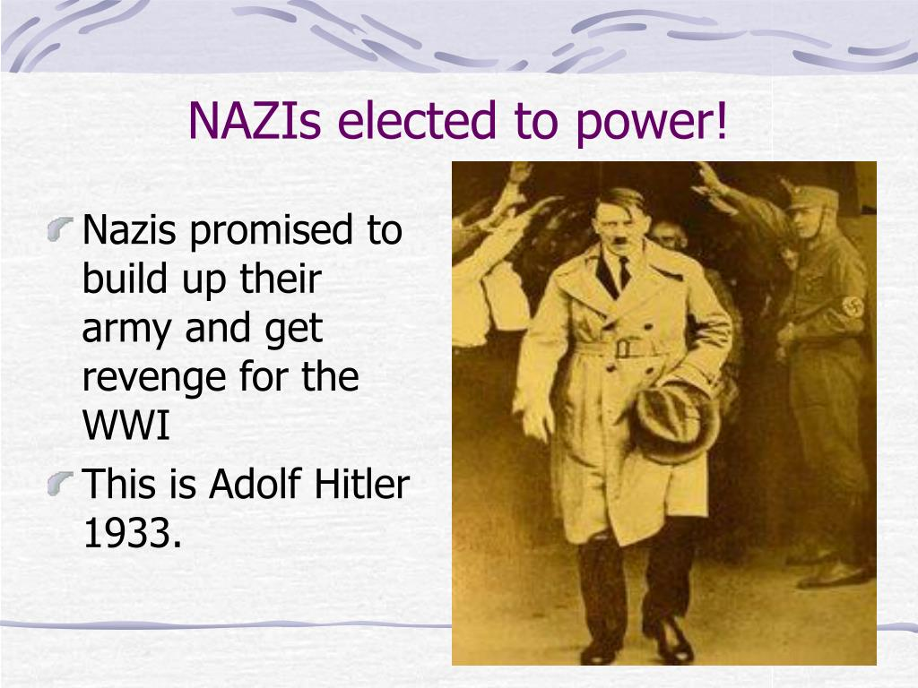 NAZIs elected to power!