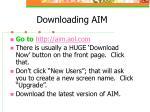downloading aim