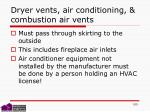 dryer vents air conditioning combustion air vents