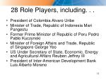 28 role players including