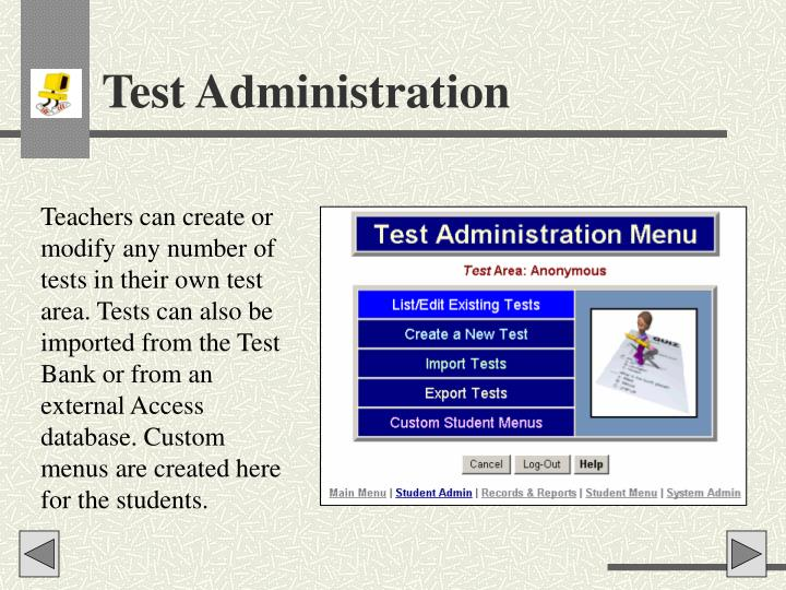 Test Administration