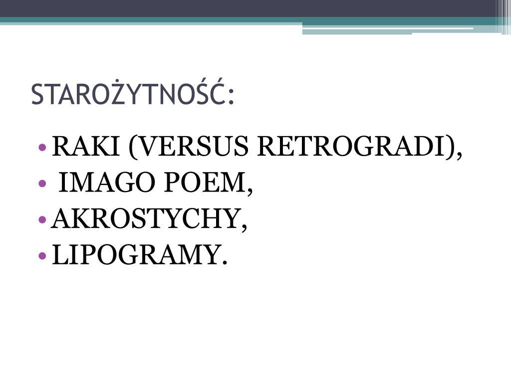 Ppt Od Poezji Wizualnej Do Hipertekstu Literackiego