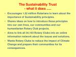 the sustainability trust what it does