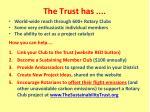 the trust has