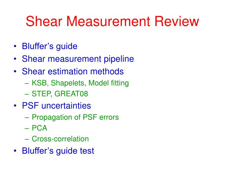 shear measurement review n.