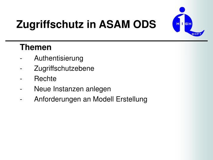 Zugriffschutz in asam ods1