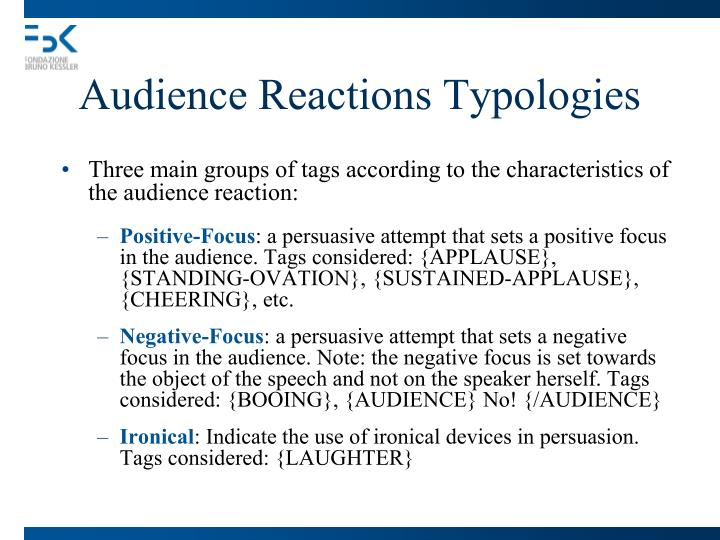 Audience Reactions Typologies