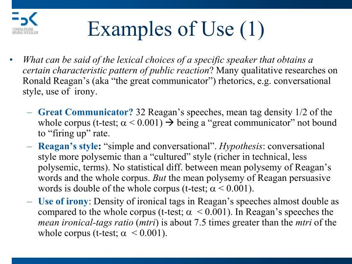 Examples of Use (1)