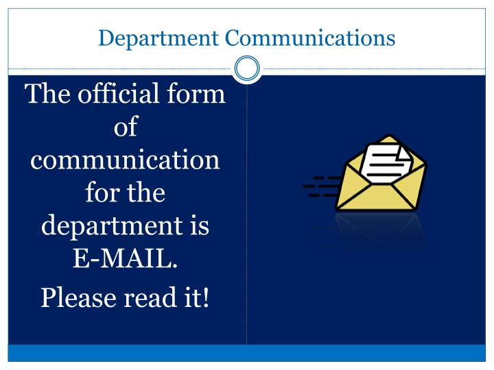 Department communications