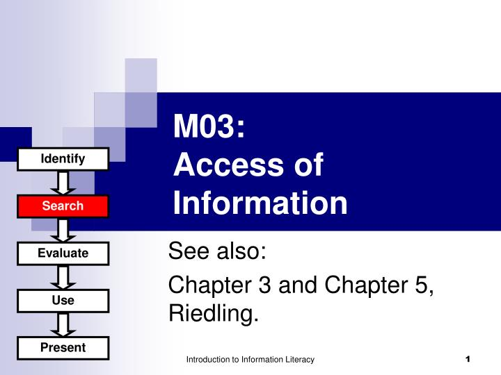 M0 3 access of information