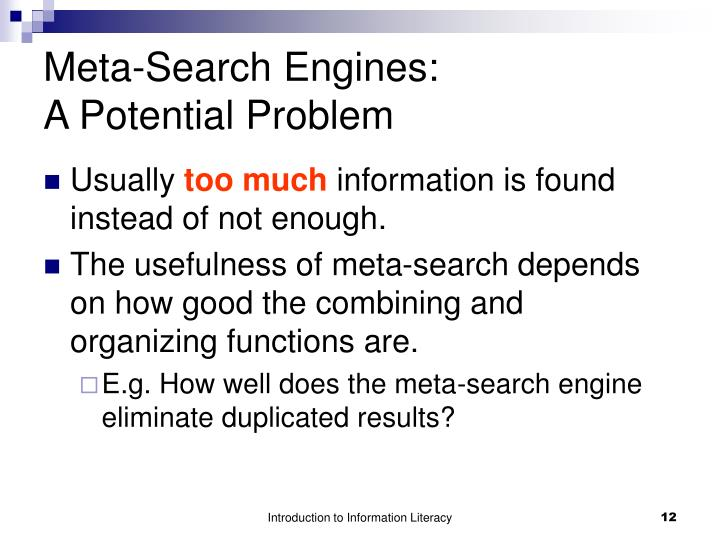 Meta-Search Engines: