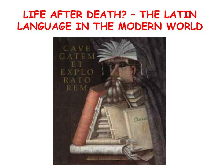 life after death the latin language in the modern world n.
