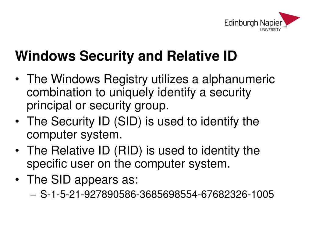 PPT - CSN08101 Digital Forensics Lecture 10: Windows