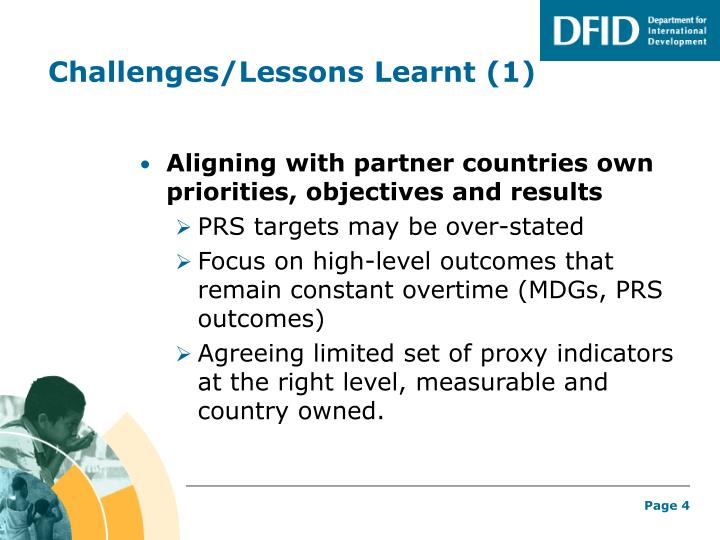 Challenges/Lessons Learnt (1)