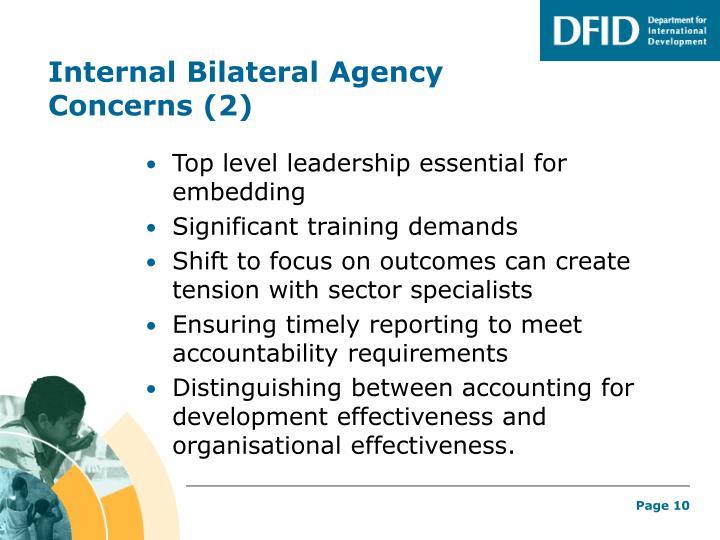 Internal Bilateral Agency Concerns (2)