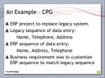 an example cpg