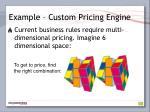 example custom pricing engine