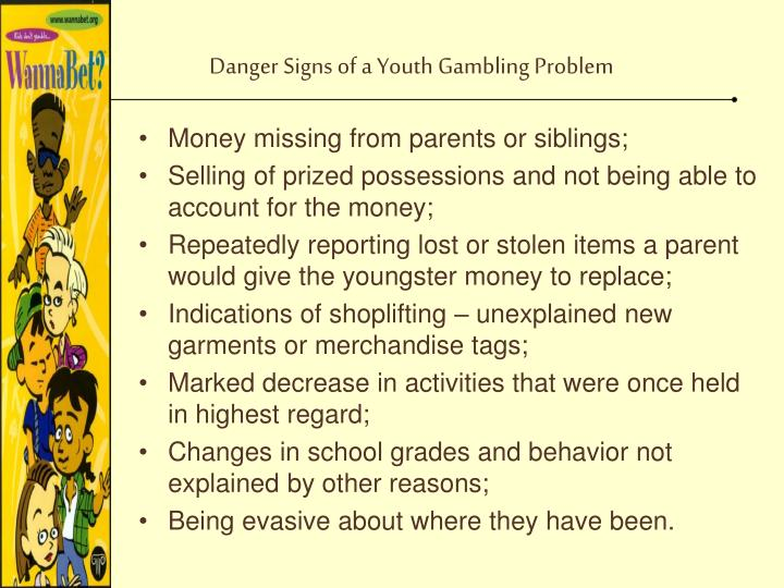 Danger Signs of a Youth Gambling Problem