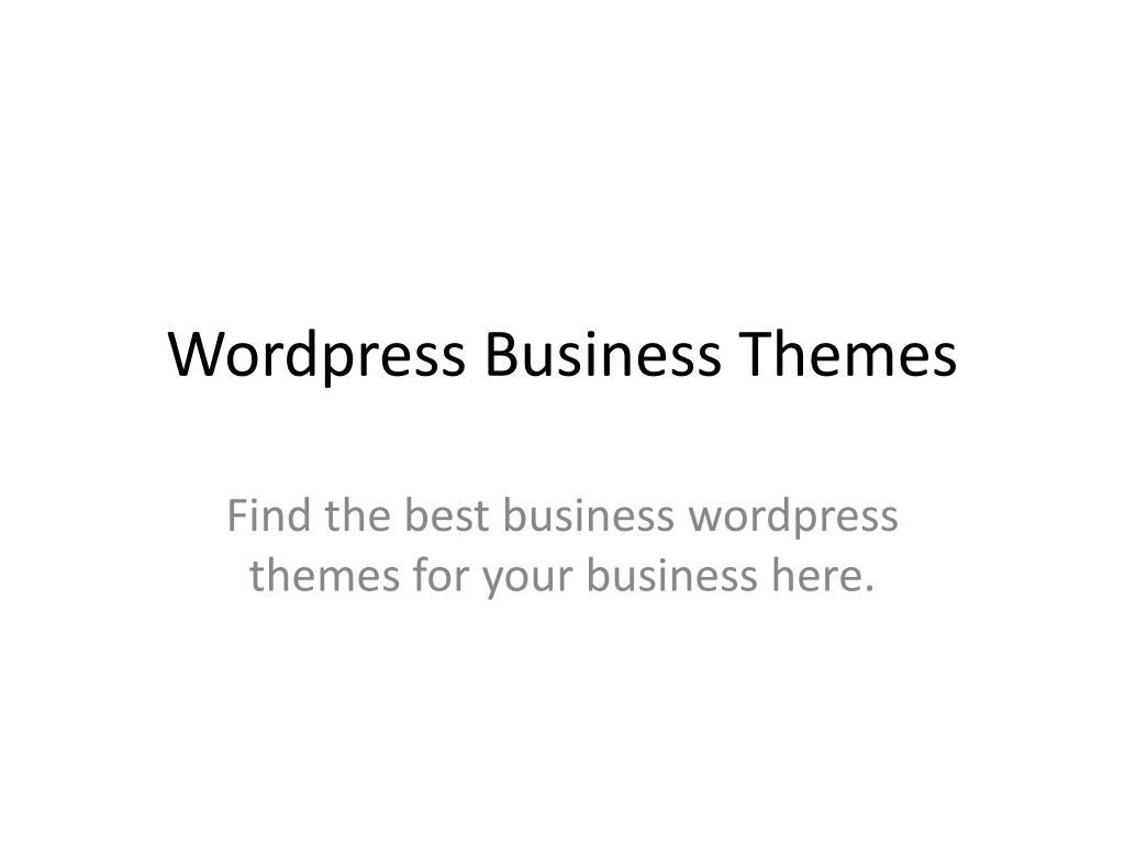 wordpress business themes l.