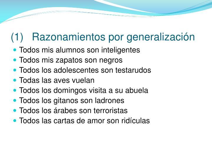 (1)Razonamientos