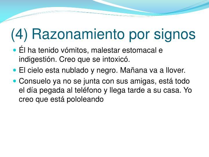 (4)Razonamiento por signos