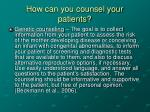 how can you counsel your patients2