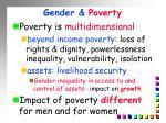 gender poverty