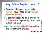 key policy implications 3