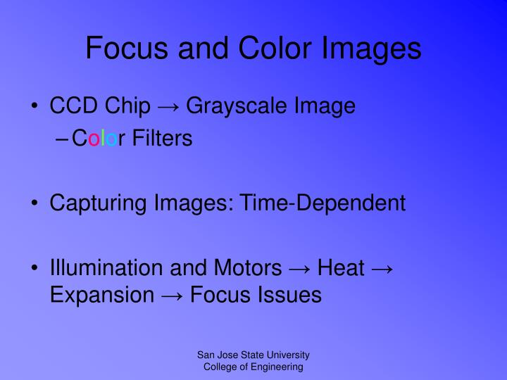 Focus and Color Images
