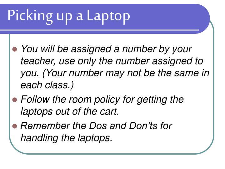 Picking up a Laptop