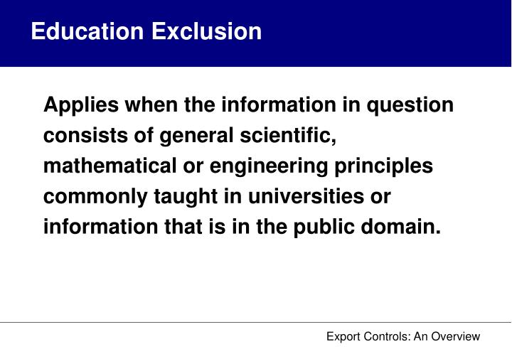 Education Exclusion