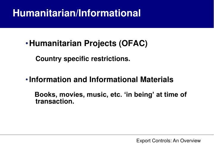 Humanitarian/Informational