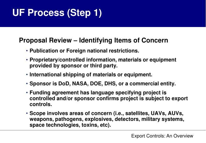 UF Process (Step 1)