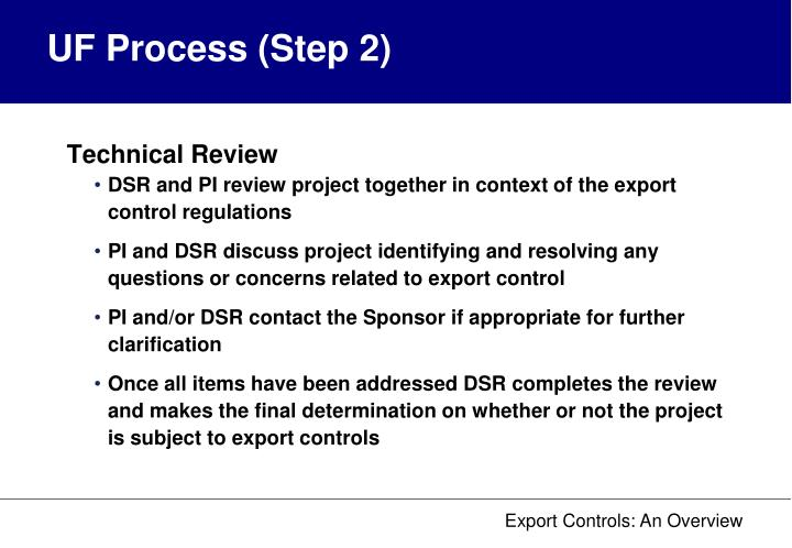 UF Process (Step 2)