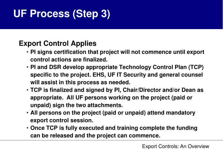UF Process (Step 3)