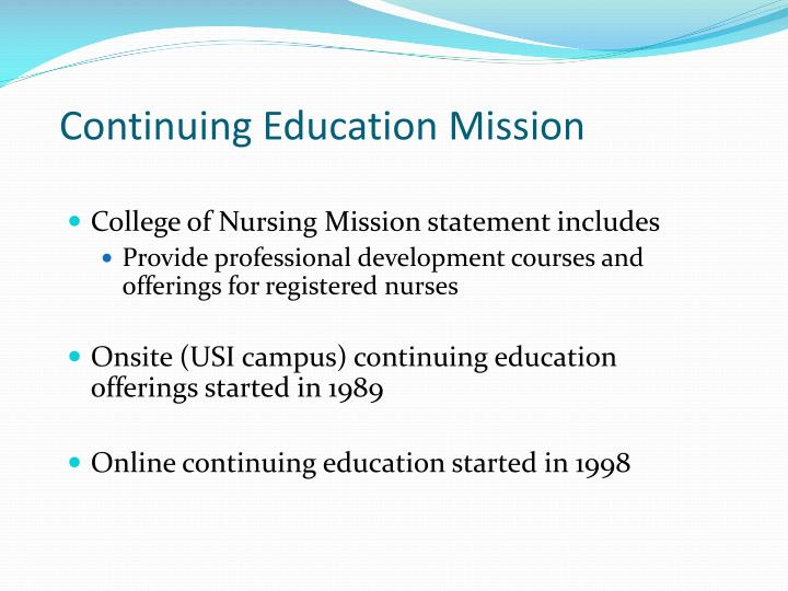 Continuing Education Mission