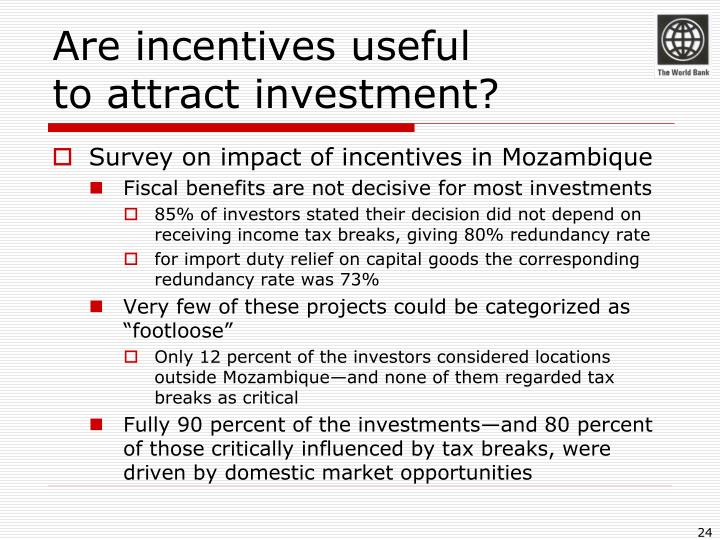 Are incentives useful
