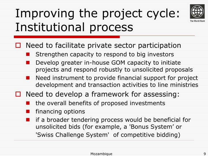 Improving the project cycle: