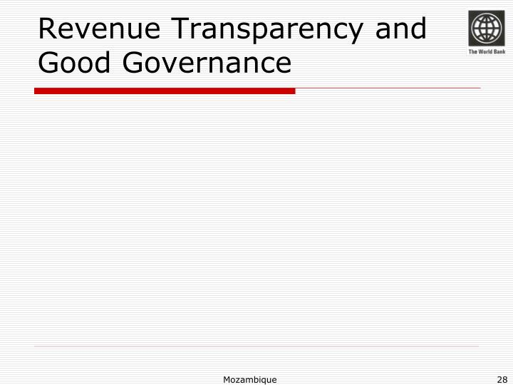 Revenue Transparency and Good Governance
