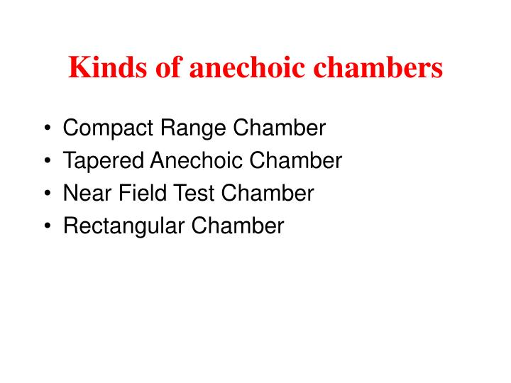 Kinds of anechoic chambers