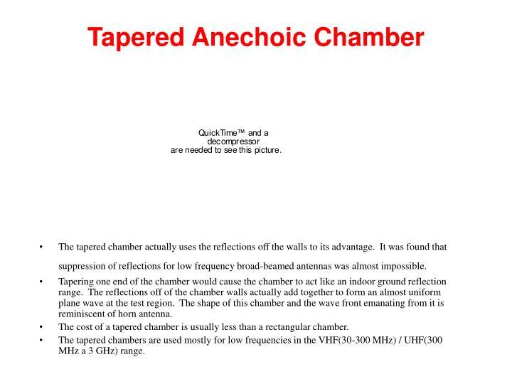 Tapered Anechoic Chamber