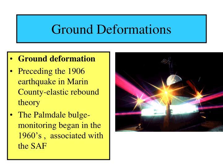 Ground Deformations