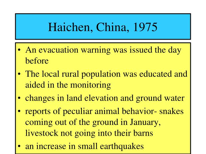 Haichen china 1975